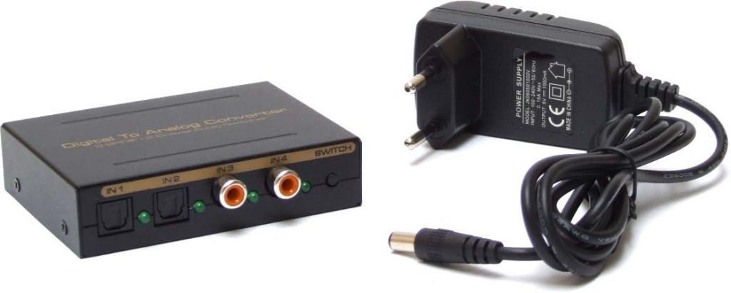 Konwerter SPDIF na RCA / Digital na Analog audio