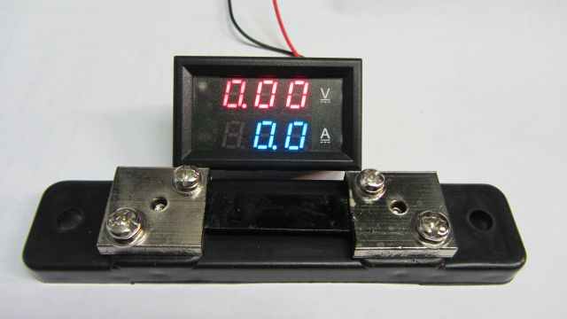 Moduł woltomierz 0-100V amperomierz 50A + bocznik