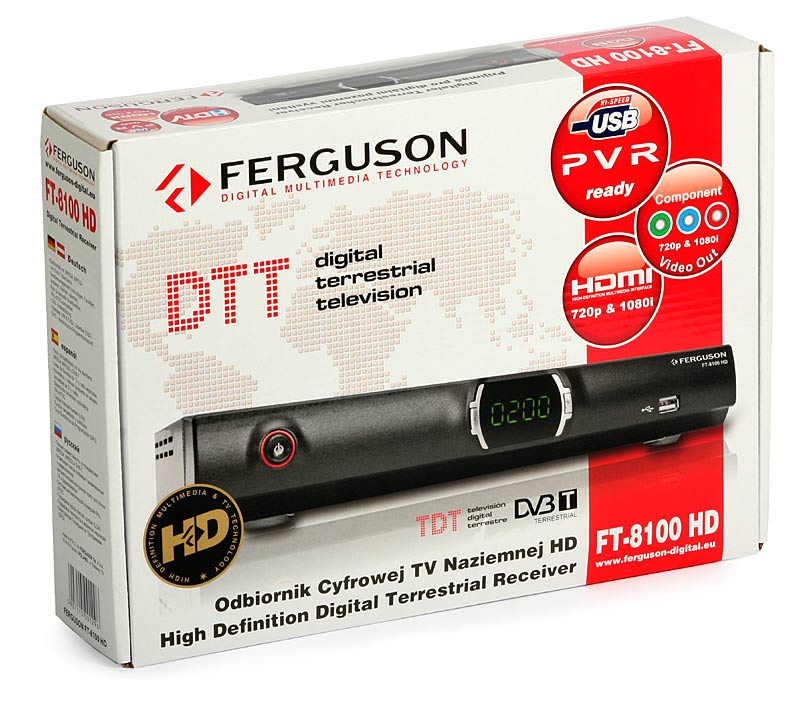 Tuner DVB-T FERGUSON FT-8100 HD