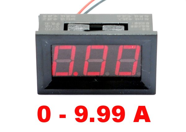 Amperomierz LED cyfrowy 0-9,99A