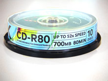 Dysk CD-R TDK 700MB 52x Cake 10Pack