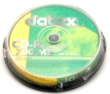 płyta CD-R DATEX 700MB 52x Cake 10szt.